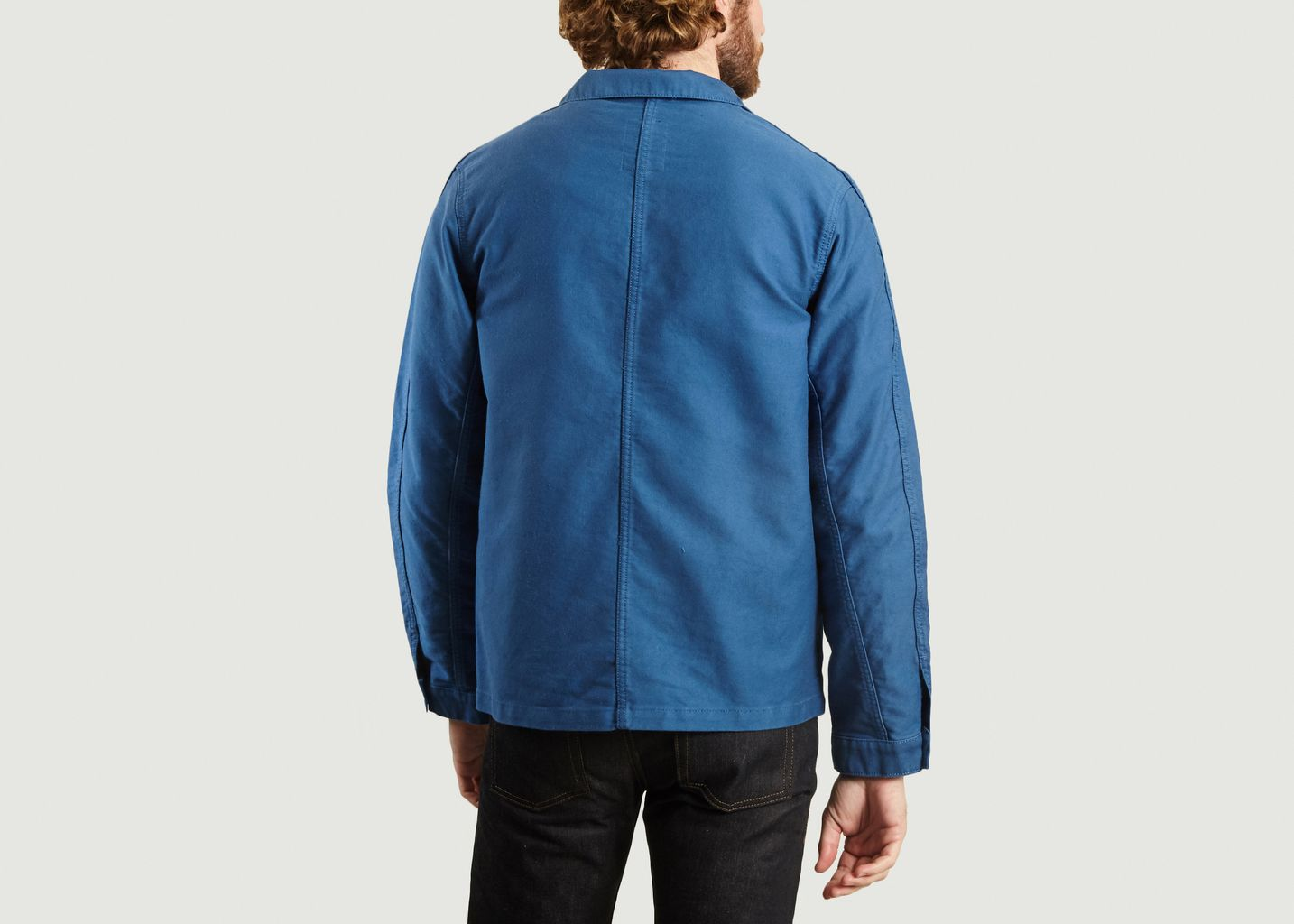 Veste de comptoir moleskine - Bleu de Paname
