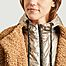 matière Manteau court effet fourrure doublé à capuche Rebecca M - Blonde No.8
