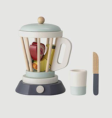 Set mixeur avec fruits en bois