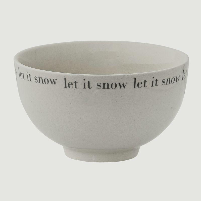 Bol en céramique Let It Snow - Bloomingville