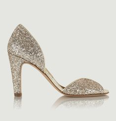 La Samba glitter leather pump shoes