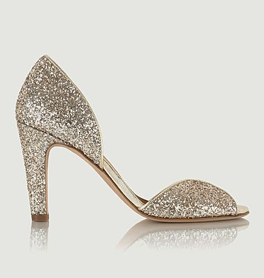 Escarpins en cuir glitter La Samba