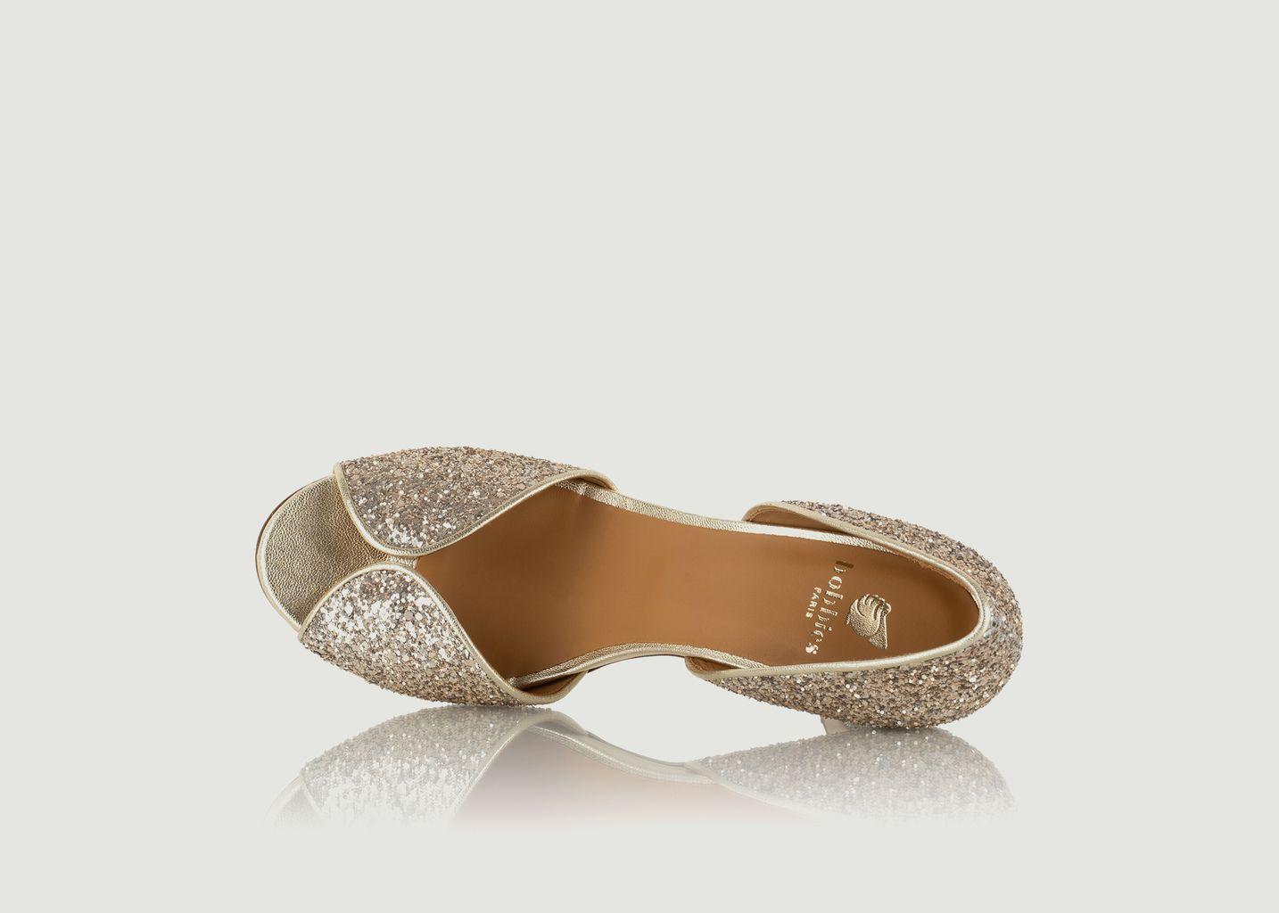 Escarpins en cuir glitter La Samba - Bobbies Paris
