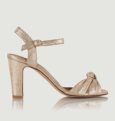 Sandales en cuir craquelé Candice