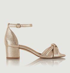 Gloria cracked leather sandals