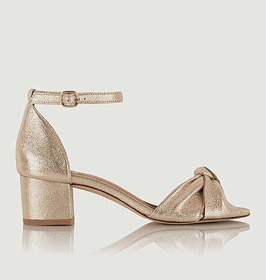 Sandales en cuir craquelé Gloria