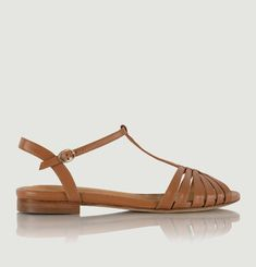 Gaby leather flat sandals