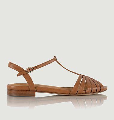 Sandales plates en cuir Gaby