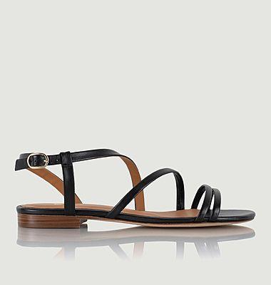 Sandales plates en cuir Lainara