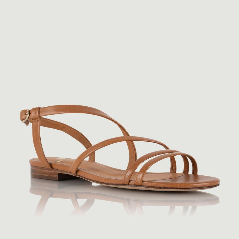 Sandales plates en cuir Lainara - Bobbies Paris