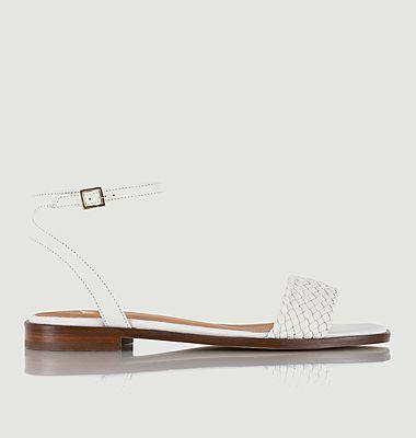 Sandales plates en cuir Suzanne