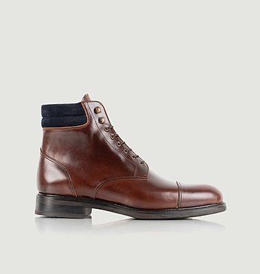 Boots à lacets en cuir Gilford