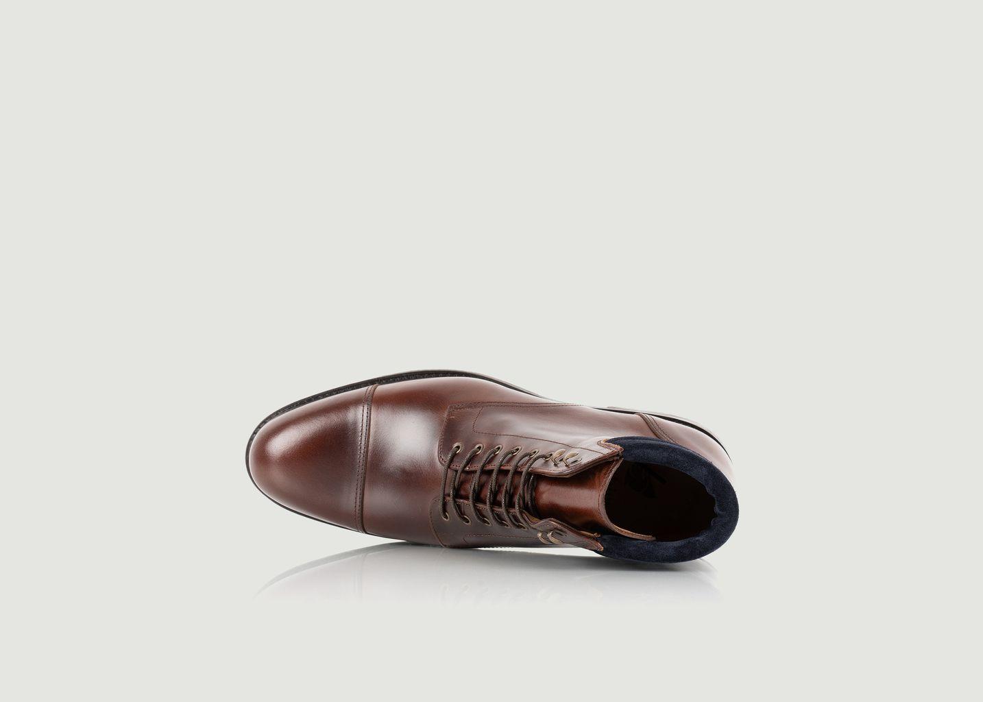 Boots à lacets en cuir Gilford - Bobbies Paris
