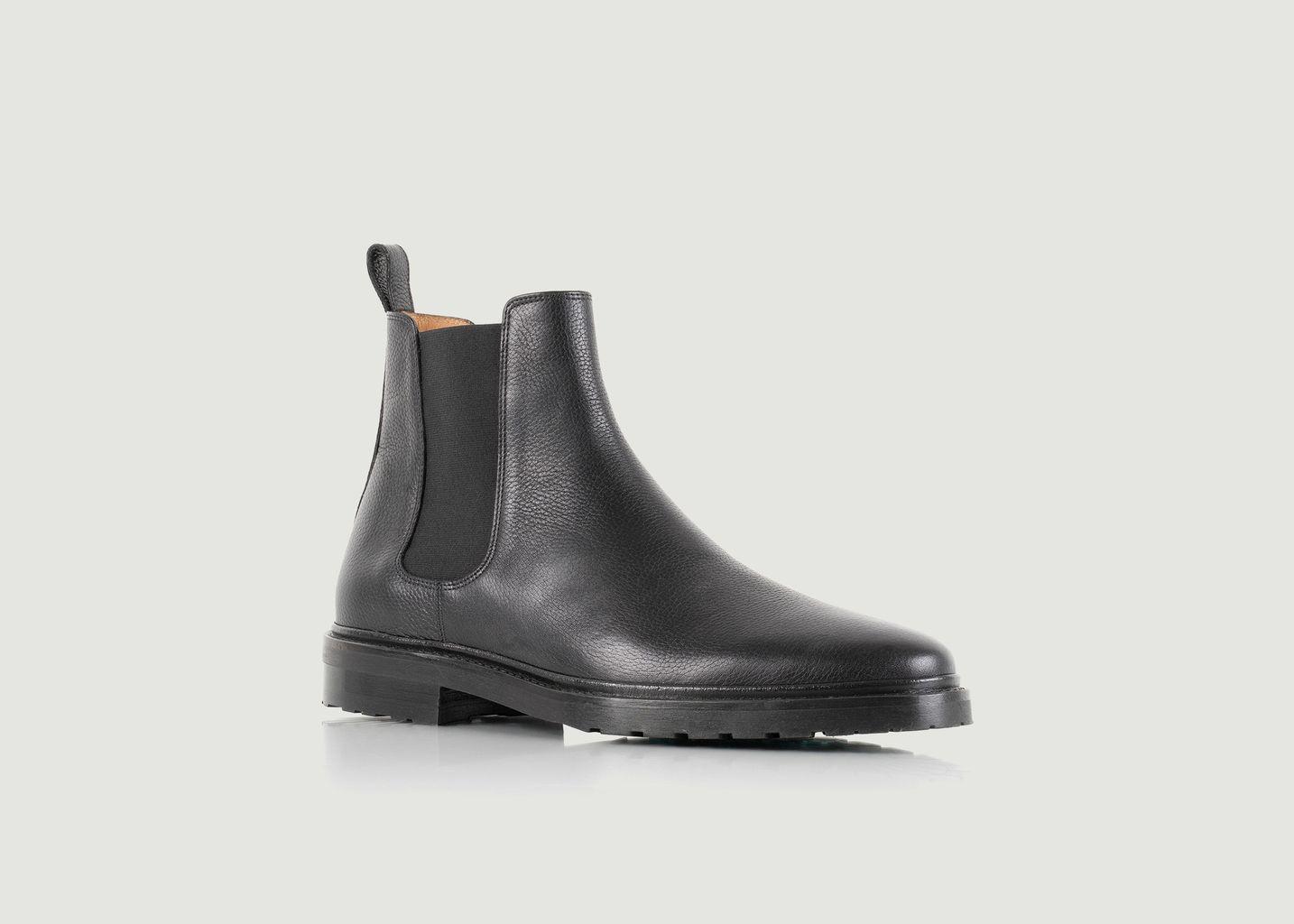 Chelsea boots en cuir grainé Conrad - Bobbies Paris
