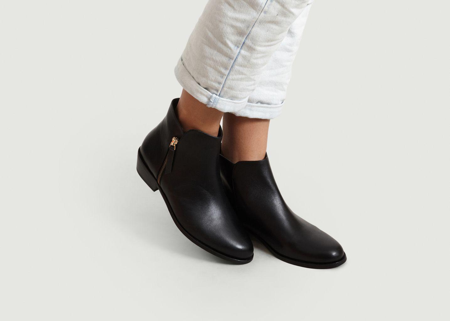 Boots En Cuir La Tulipe - Bobbies