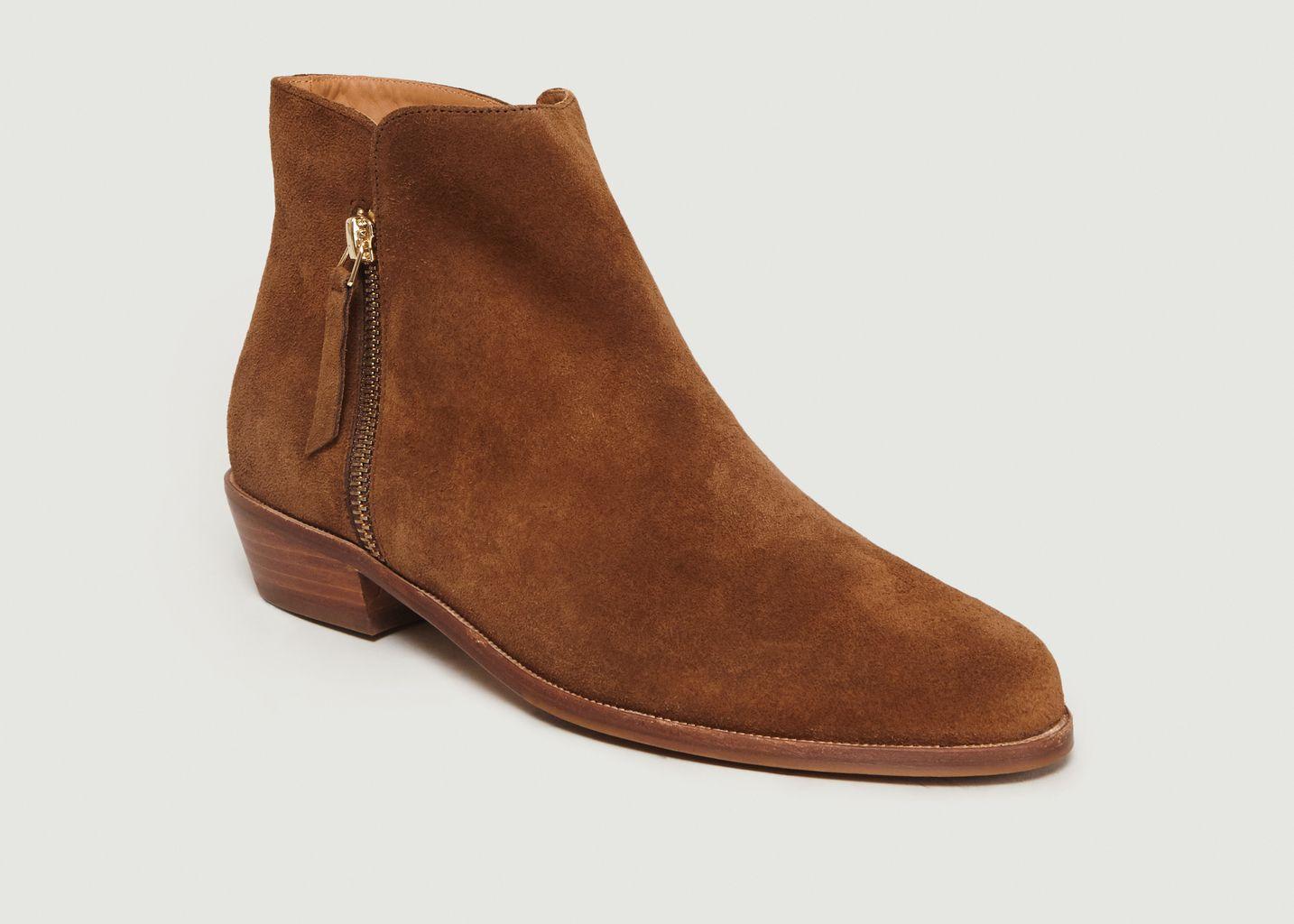 dee837526 La Tulipe Suede Boots Havana Bobbies