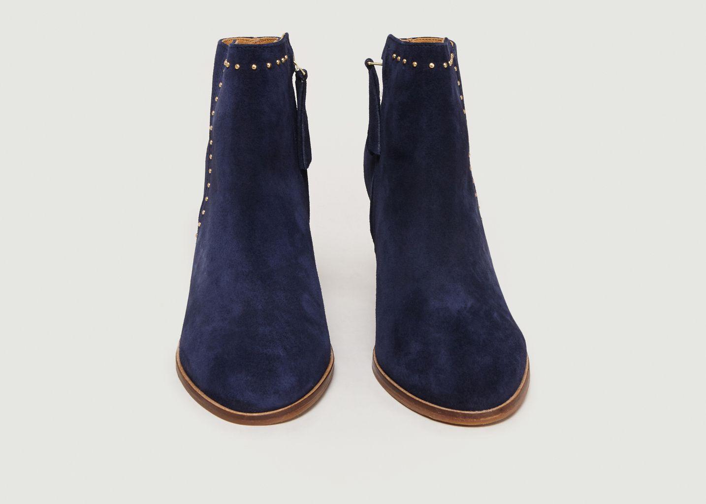 Boots A Talons En Veau Velours L'Envoûtante - Bobbies