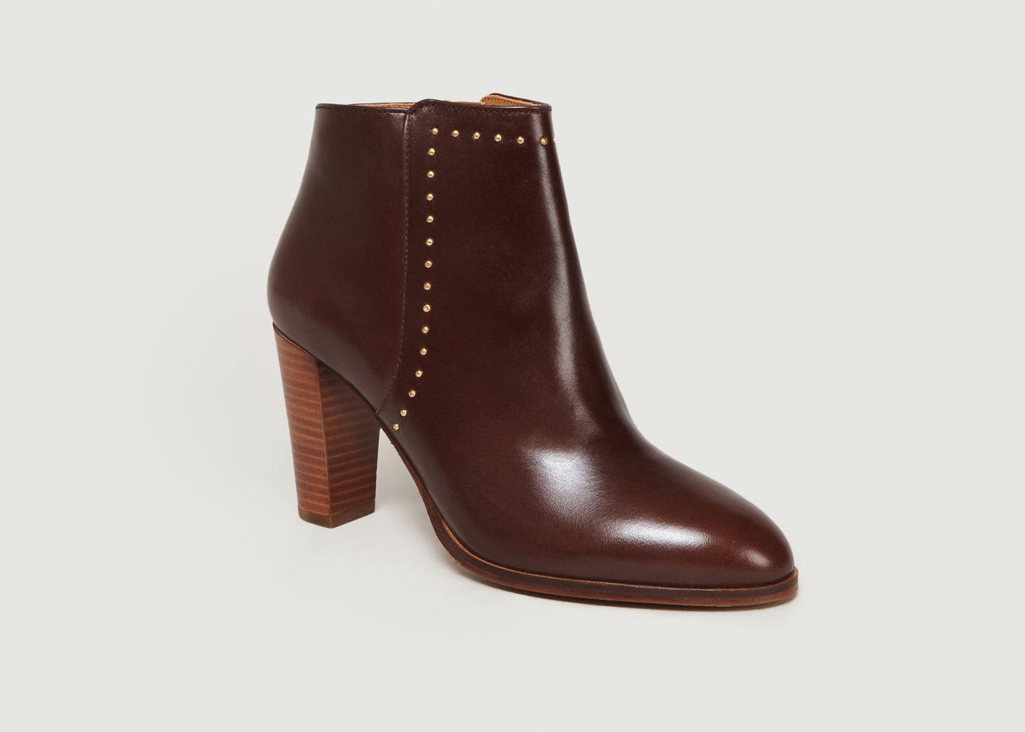Boots A Talons En Cuir L'Envoûtante - Bobbies