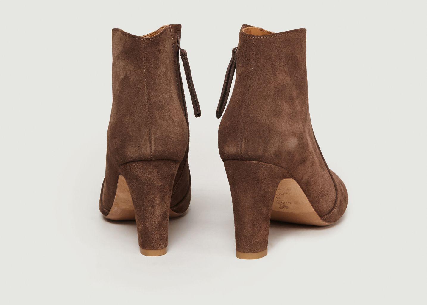 Boots A Talons En Veau Velours La Cachotière - Bobbies