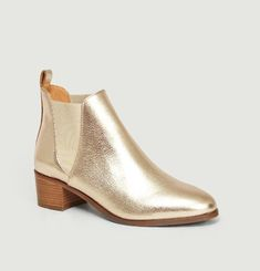 Bottines Chelsea Cuir Lamé Soho