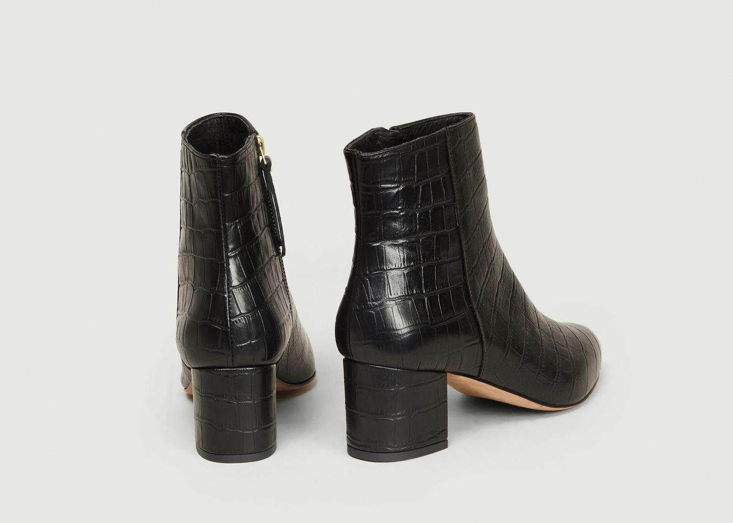 Boots L'Effrontée Façon Croco - Bobbies Paris