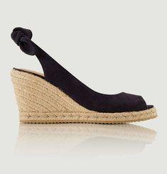Sandales Compensées En Nubuck Dulcinée