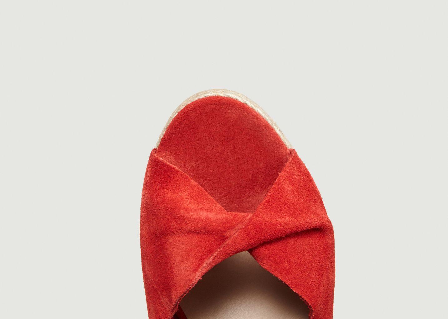 Sandales Compensées En Nubuck Pensive - Bobbies Paris