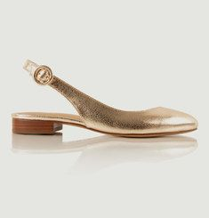 Sandales En Cuir Craquelé La Coquette