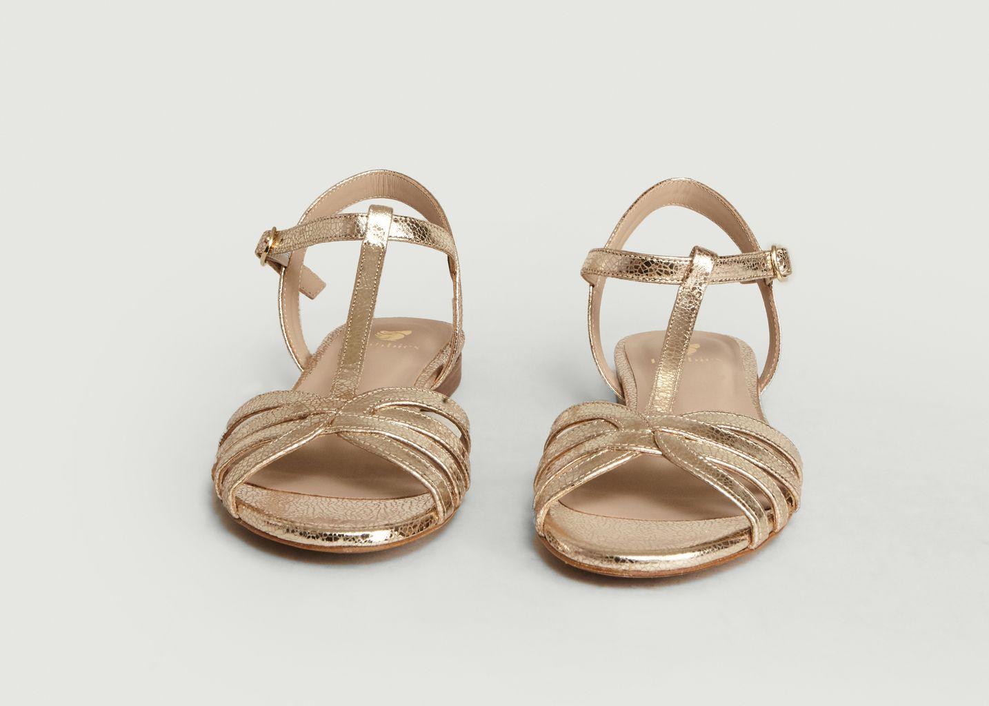Sandales En Cuir Craquelé La Merveille - Bobbies Paris