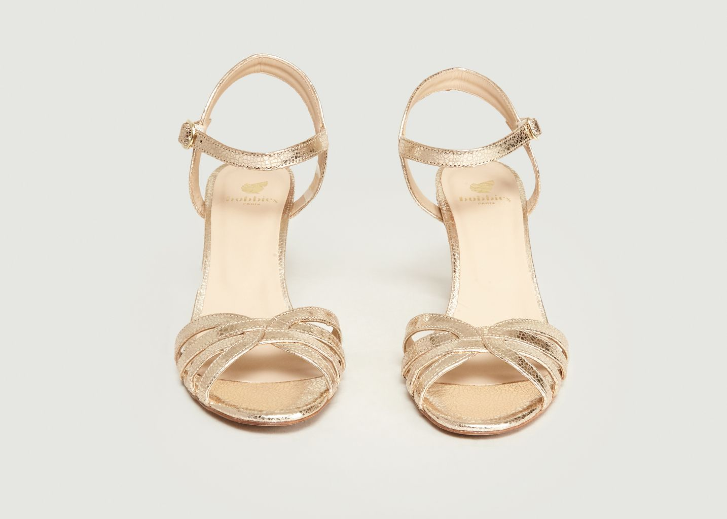 Sandales En Cuir Craquelé La Ravie - Bobbies Paris
