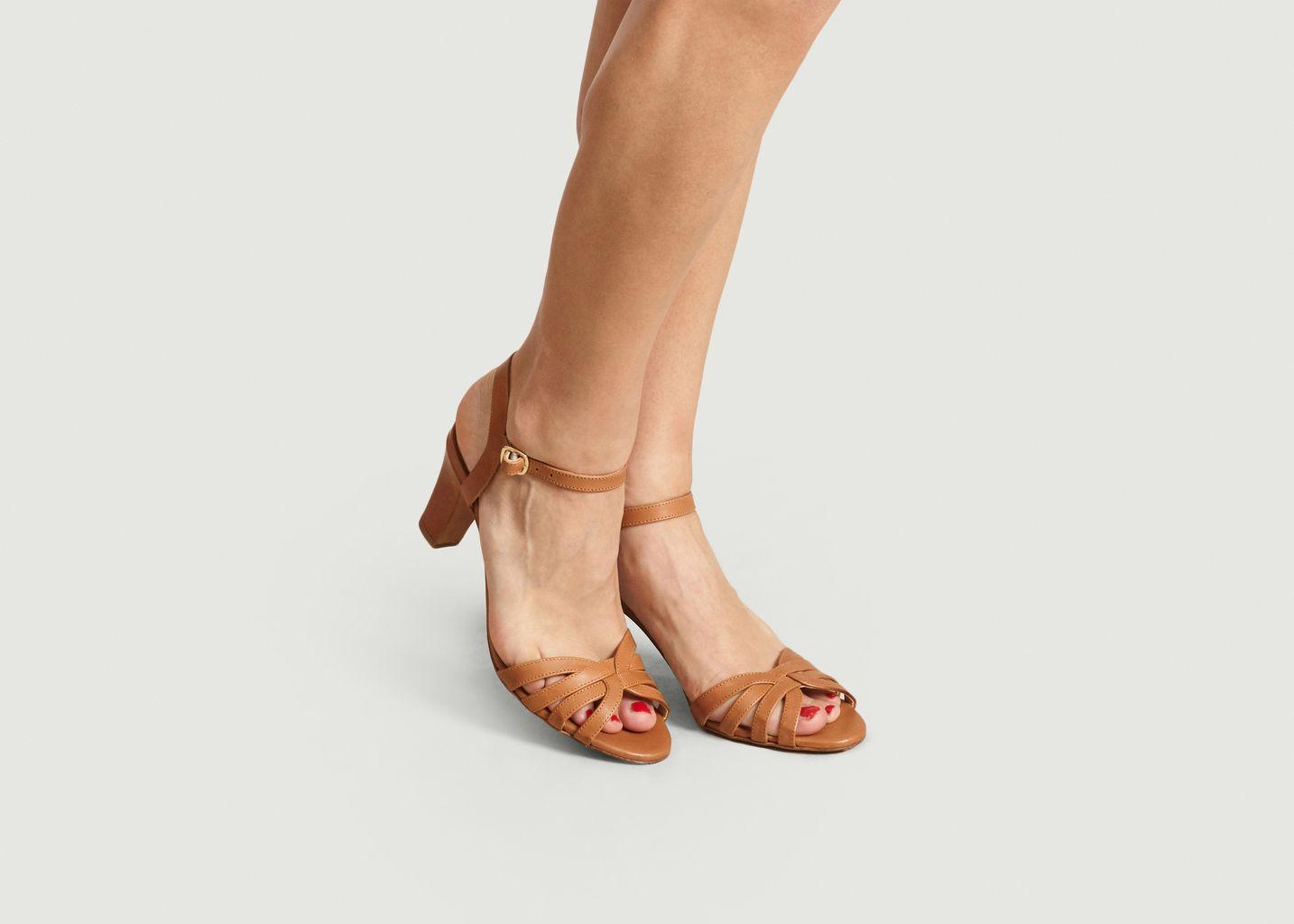 Sandales En Cuir La Ravie - Bobbies Paris