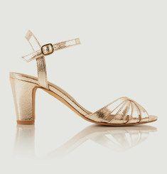 Sandales En Cuir Craquelé La Ravie