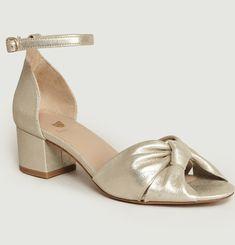 Sandales En Cuir Lamé La Charmante