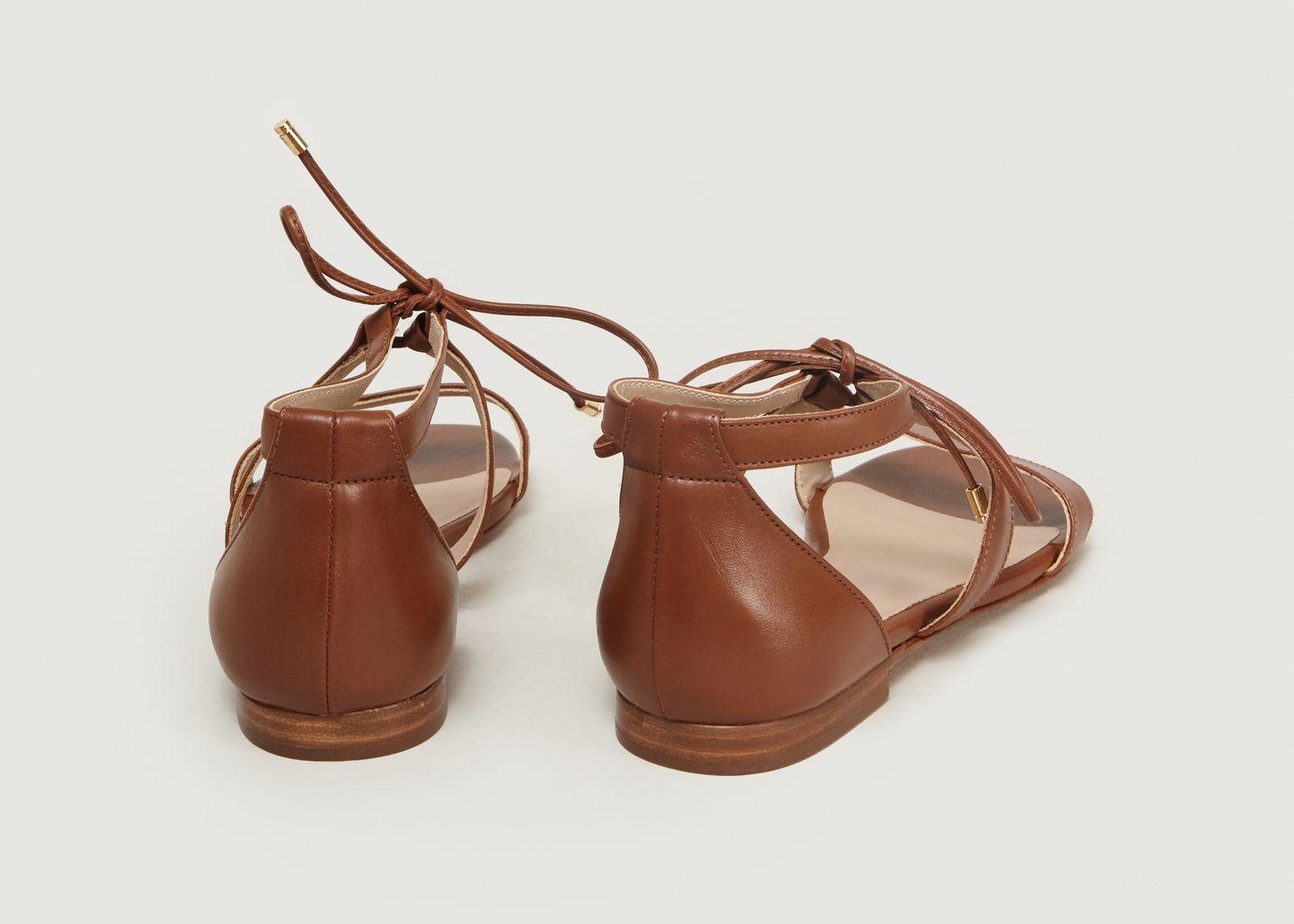 Sandales Plates En Cuir Aphrodite - Bobbies Paris