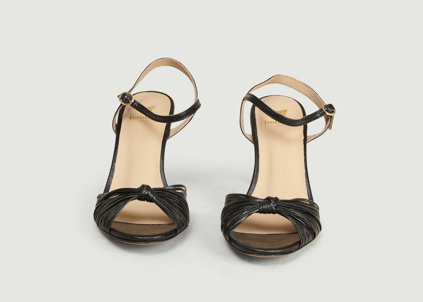 Sandales en cuir laminé La Cosmique - Bobbies Paris