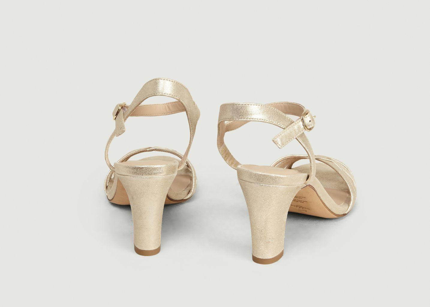 Sandales en cuir lamé La Ravie - Bobbies Paris