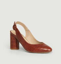 L'Inouïe Croco Effect Leather Pump Shoes