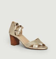 Sandales en cuir La Papillonneuse
