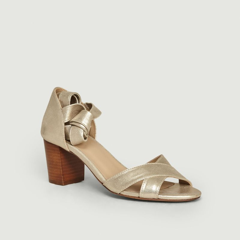 Sandales en cuir La Papillonneuse - Bobbies Paris
