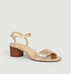 La Rêvée cracked leather sandals