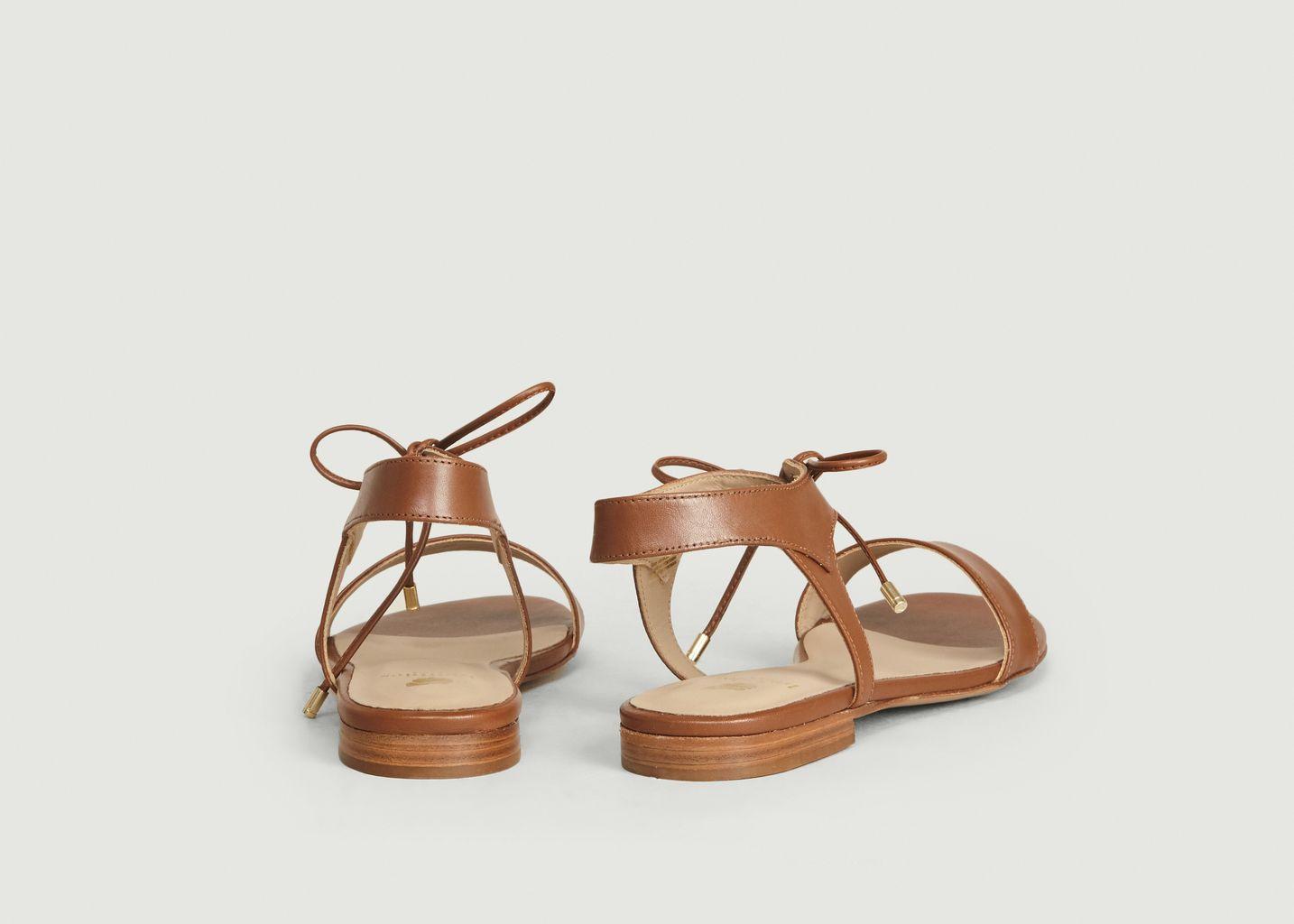 Sandales En Cuir La Conquise - Bobbies Paris