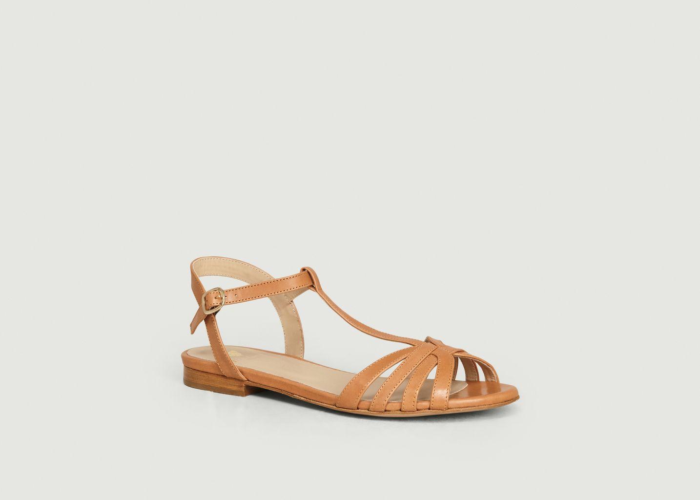 Sandales en cuir La Merveille - Bobbies Paris