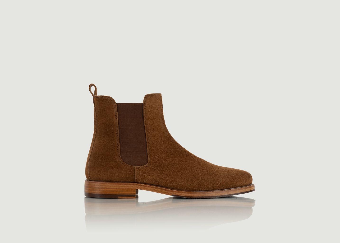 Chelsea boots en daim Morrison - Bobbies Paris