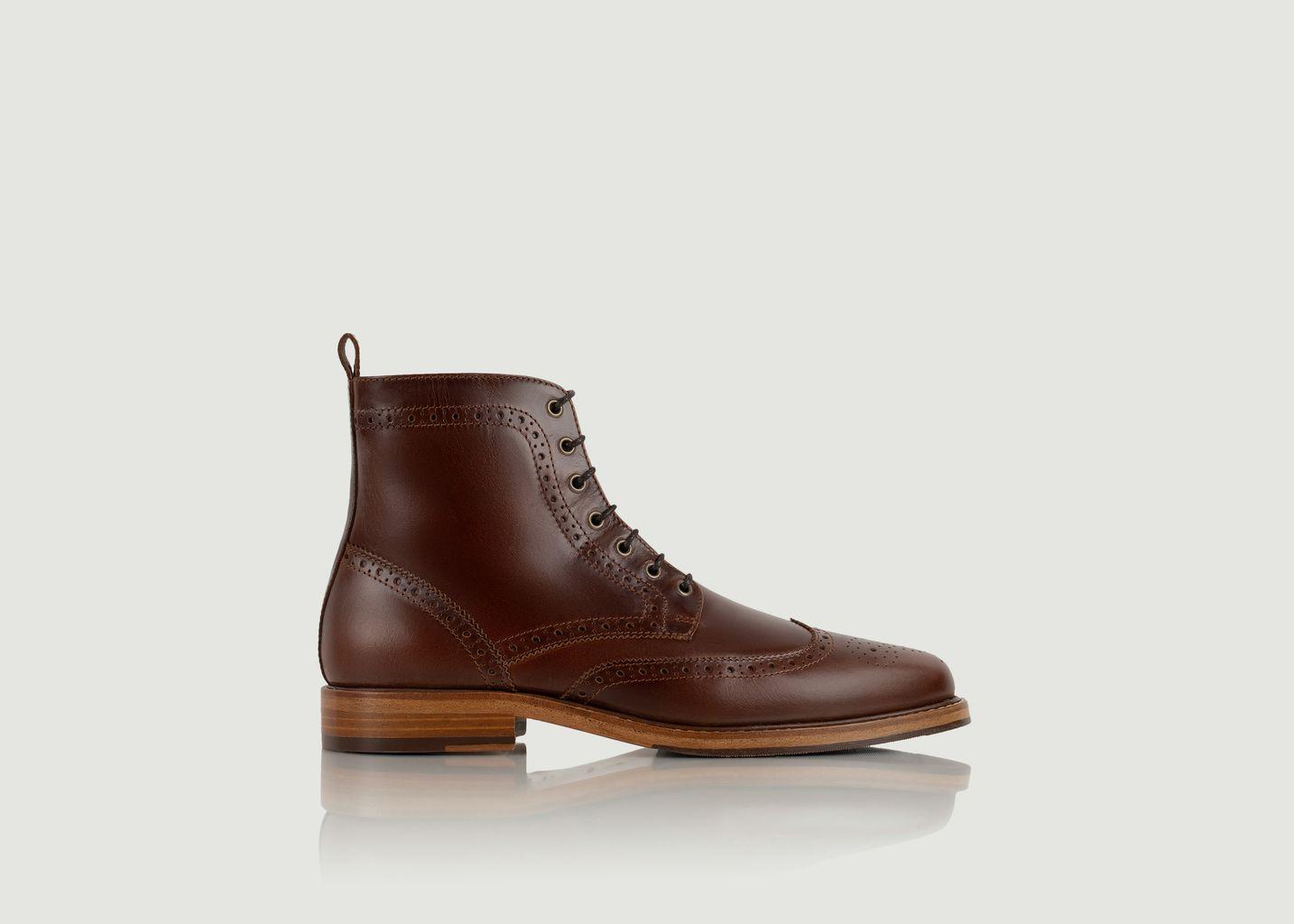 Boots brogues en cuir Howard - Bobbies Paris