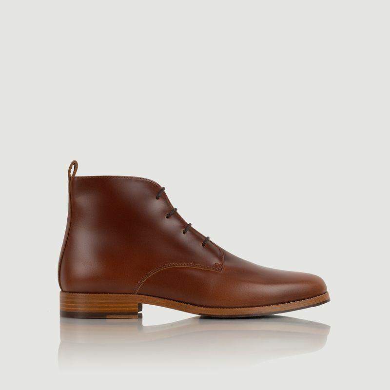 Boots en cuir à lacets L'explorateur - Bobbies Paris