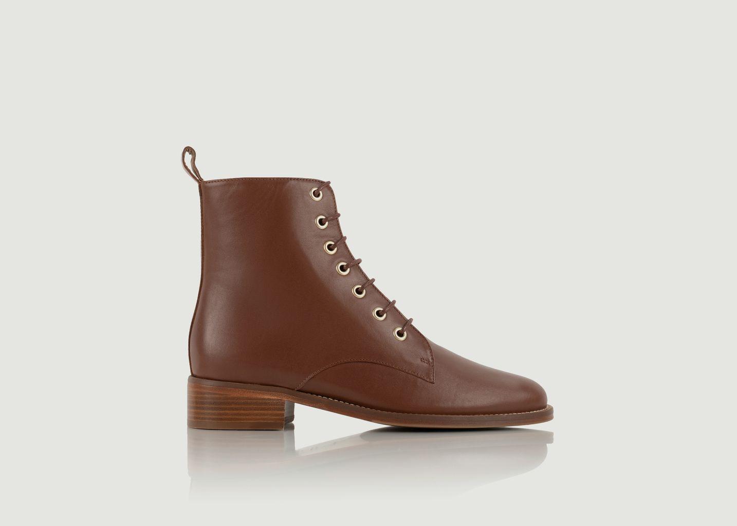 Boots mi-hautes en cuir à lacets Exploratrice - Bobbies Paris