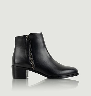 Bottines en cuir Fougueuse