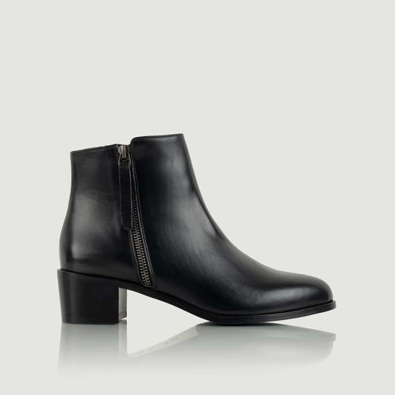 Bottines en cuir Fougueuse - Bobbies Paris