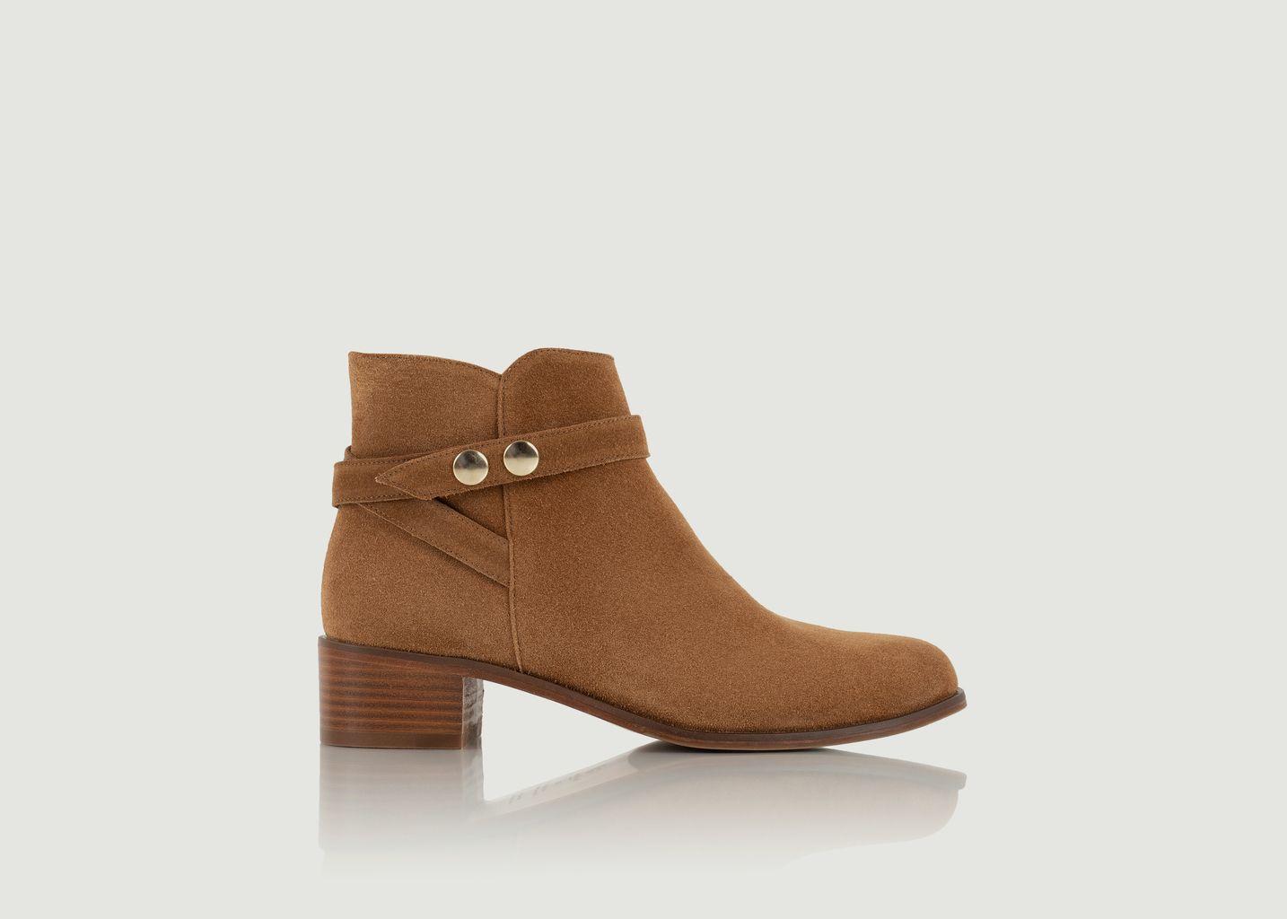 Boots en daim Illustratrice - Bobbies Paris