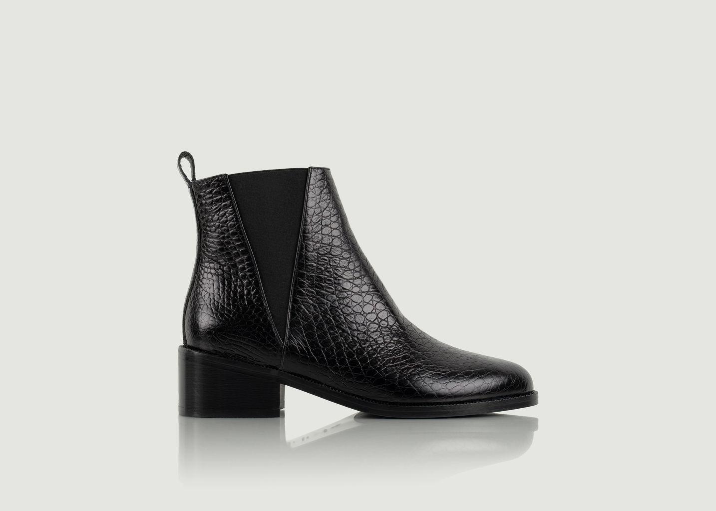 Chelsea boots en cuir façon serpent L'entêtée - Bobbies Paris